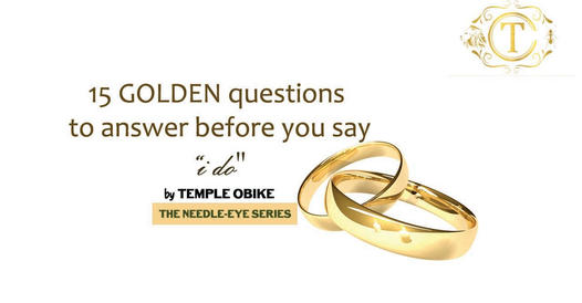 15 Reasons Why You Shouldn't Rush Into That Marriage by temple obike